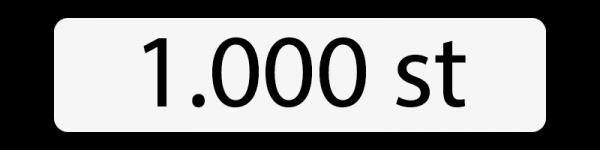 1000 st
