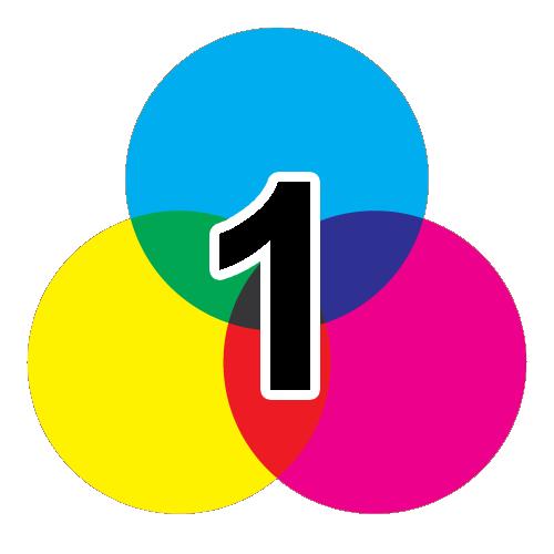 1-färgtryck
