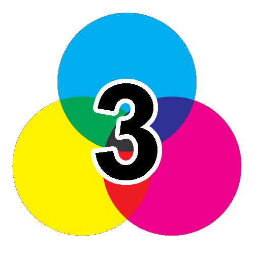 3-färgtryck